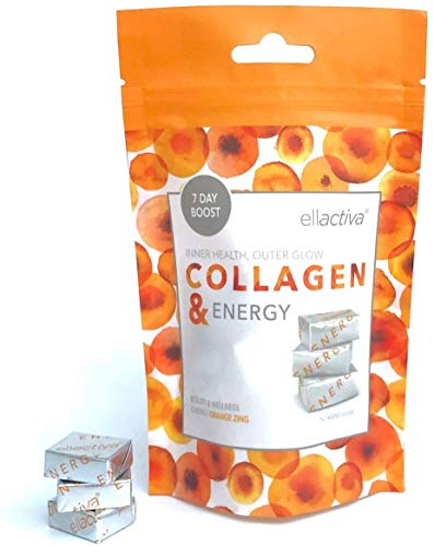 Ellactiva Collagen& Energy I with VIT C, Soluble Fibre & Chromium I Orange Zing I No Added Sugar I New 'Try Me' Pack