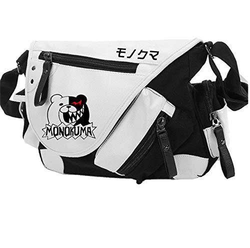 YOYOSHome Japanischer Anime-Cosplay-Rucksack Messenger-Bag, Umhängetasche schwarz Danganronpa