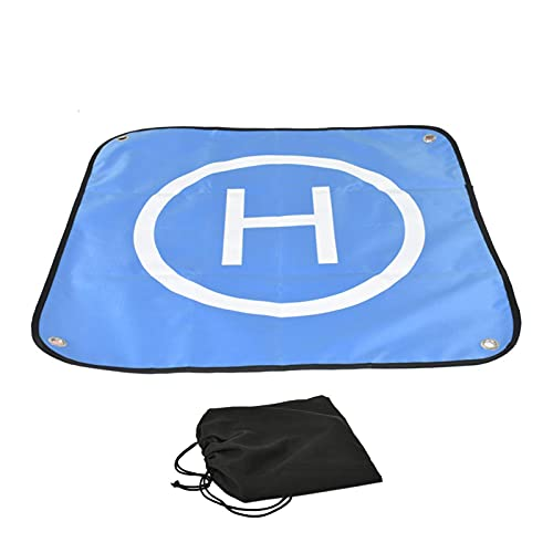 secruk Drone Landing Pad, Tappetino colorato Fronte-Retro Resistente all'Acqua Portatile, per droni D Ji Air 2S, D Ji FPV, D Ji Mavic Mini 2, Mavic Air 2, Mavic 2 PRO, Zoom, Holy Stone RC Dependable