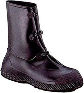 "Servus SuperFit 12"" PVC Chemical-Resistant Men's Overboots, Black (11095)"