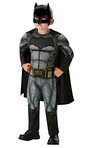 DC Comics - Disfraz de Batman Deluxe para niños, Justice League, 7-8 años (Rubies 640809-L)