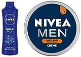 NIVEA Talc, Musk Mild Fragrance Powder, 400g And NIVEA Men Creme, Dark Spot Reduction Cream, 75ml
