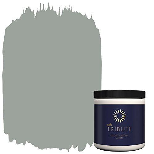 KILZ Tribute Interior Satin Paint & Primer in One, 8 oz Sample, Stone Cold (Tb-66)
