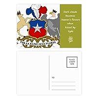 チリ国家エンブレムの国 詩のポストカードセットサンクスカード郵送側20個