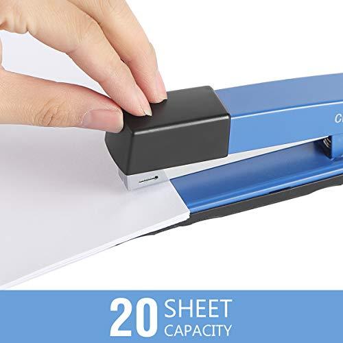 Craftinova Stapler,Office Stapler,Durable Metal Stapler ,20 Sheet Capacity,Includes 2000 Staples & Stapler Remover,3PACK,for Office or Home Office Supplies, Blue…… Photo #3