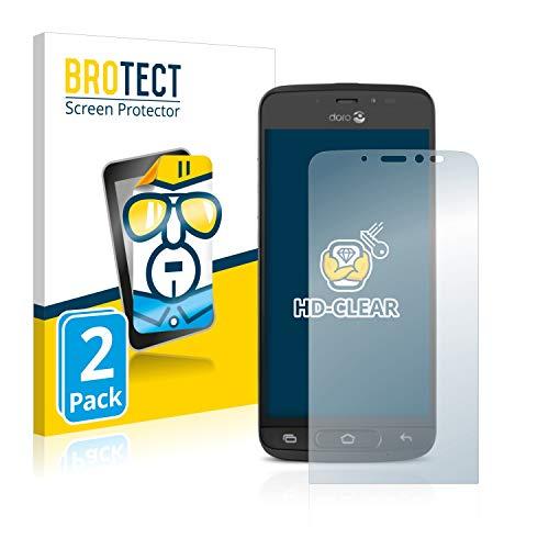 BROTECT Schutzfolie kompatibel mit Doro 8040 (2 Stück) klare Bildschirmschutz-Folie