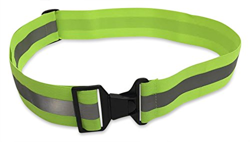 Salty Lance Glow Belt Running Belt - Reflective Belt - PT Belt - Military Reflective Belt - Yellow