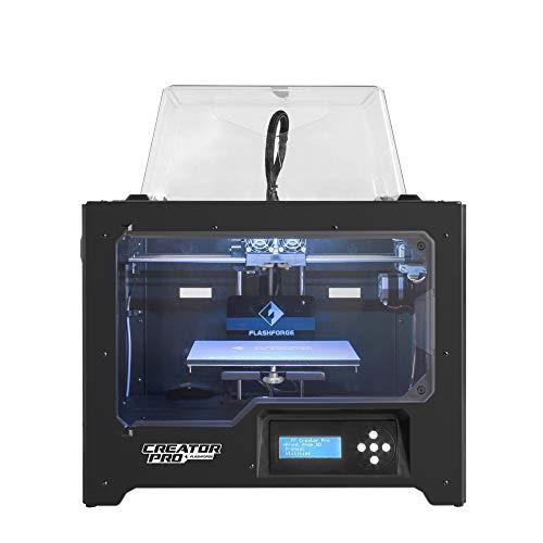 Flashforge Impresora 3D Creator Pro Dual Extrusora Impresora con placa de construcción optimizada y soporte de carrete mejorado