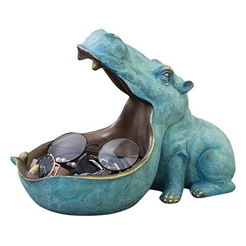 Cuenco para Guardar Llaves, TOPCL Resina Animal Figurilla, Hogar hipopótamo Pez Dinosaurio Organizador Adornos Artesanías de Escritorio Accesorios para llaveros Recipiente de Almacenamiento para llav