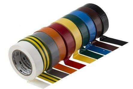 LEDKIA LIGHTING Temflex Isolierband 1300 3M PVC 19mm x 20m Schwarz