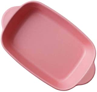 Yardwe Ceramic Baking Dish Lasagna Pans Ceramic Souffle Dishe Baking Tray for Cooking Cake Dinner Kitchen