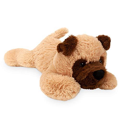 Landahl & Baumann liegender Hund Kuscheltier 47cm, Mopsi aus weichem Plüsch für alle Kinder und Hundeliebhaber