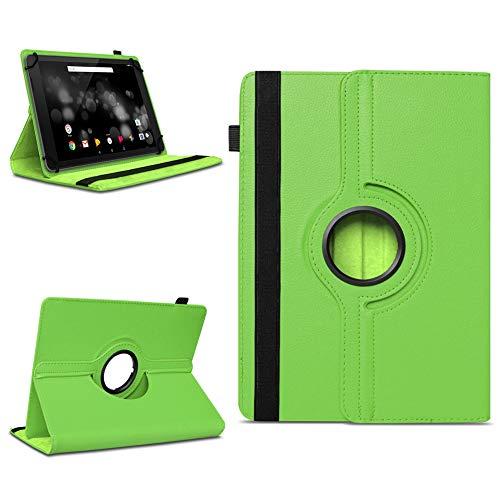 NAmobile Schutzhülle kompatibel für TrekStor Primetab P10 Tablet Hülle Tasche Case Cover 360 Drehbar, Farben:Grün