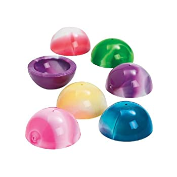 Fun Express Marbleized Poppers Surplise Pop Up Toys - Set of 12 - Classic Party Favors and Giveaways Toys