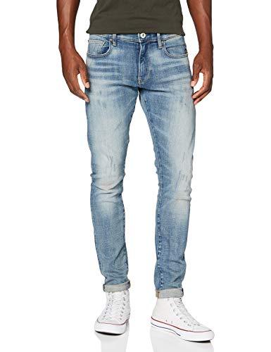 G-STAR RAW Herren Skinny Jeans Revend, Blau (Antic Blight Green C051-b814), 33W / 36L