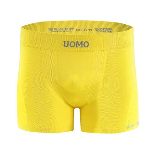 Sesto Senso Herren Boxershorts Komfortable Retroshorts Basic Unterhose Unterwäsche für Männer S/M Gelb