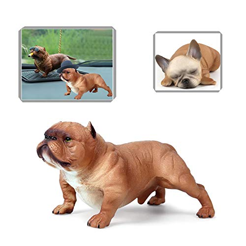 3PCS Realistic Dogs French Bulldog Party Decorations Toy Dog Figurines Bulldog Figurines Bulldogs Statues Bulldog Toys Large Bull Dogs Figures Bulldog Gifts Dog Figure Dog Figures for Kids