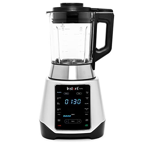 Instant Ace Plus Blender, 54 oz Glass Pitcher, Hot & Cold Settings, Smoothie, Crushed Ice, Nut Butter, Almond Milk, Purée, and Soup, 10 Adjustable Speeds