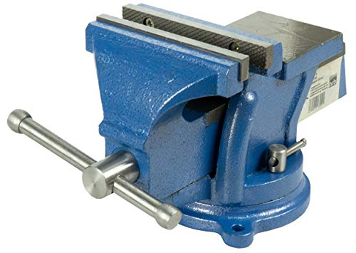 Preisvergleich Produktbild Robuster Schraubstock 125 mm Backenbreite für Werkbank 360° drehbar (Spannweite 120 mm,  Gewicht 8, 5 Kg)