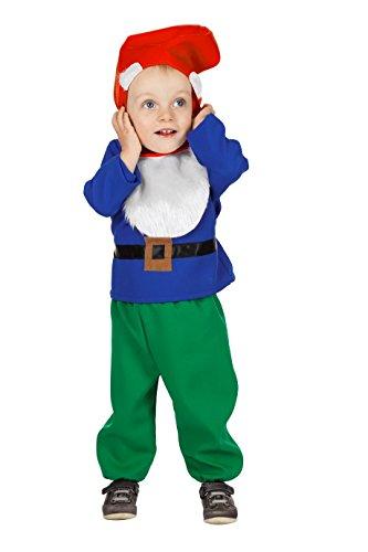 Zwergen-Kostüm für Klein-Kinder Oberteil Hose und Zipfelmütze Fantasy Märchen Karneval Fasching Theater Hochwertige Verkleidung Fastnacht Größe...