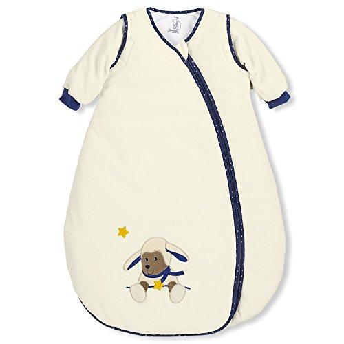 Sterntaler Sterntaler Schlafsack für Kleinkinder, Abnehmbare Ärmel, Wärmeregulierung, Reißverschluss, Größe: 90, Stanley, Crème
