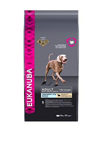 Eukanuba Hundefutter für ausgewachsene Hunde großer Rassen – Trockenfutter mit Lamm & Reis