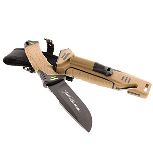 StatGear Surviv-All Fixed-Blade Bowie Knife with Sheath,...