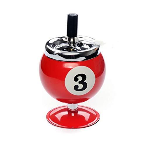 ZHUSHI Número Cenicero De Acero Inoxidable Bolas Creativas Cenicero Modelo De Billar Tarro De Tabaco Regalo Accesorios para Fumar (Color : B)