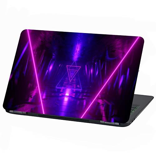 Laptop Folie Cover Abstrakt Klebefolie Notebook Aufkleber Schutzhülle selbstklebend Vinyl Skin Sticker (15 Zoll, LP17 Neon Light)