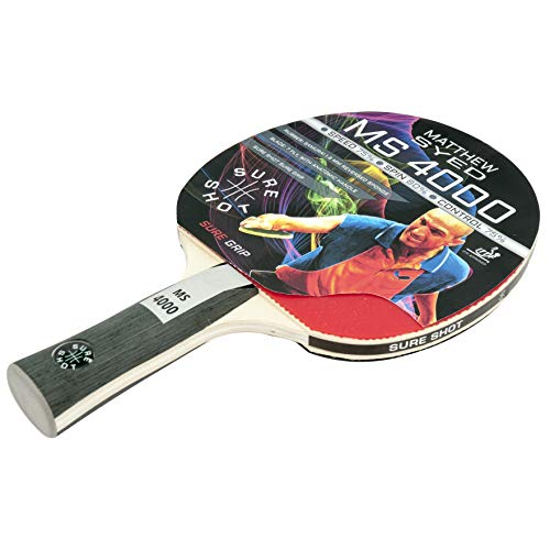 Sure Shot Matthew Syed MS-4000 Table Tennis Bat, ITTF Approved 1.8 mm...