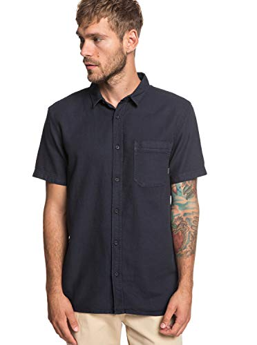 Quiksilver Herren Time Box Woven Top, Black, S