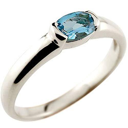 [アトラス] Atrus リング レディース 18金 ホワイトゴールドk18 ブルートパーズ 指輪 11月誕生石 ストレート 宝石 10号