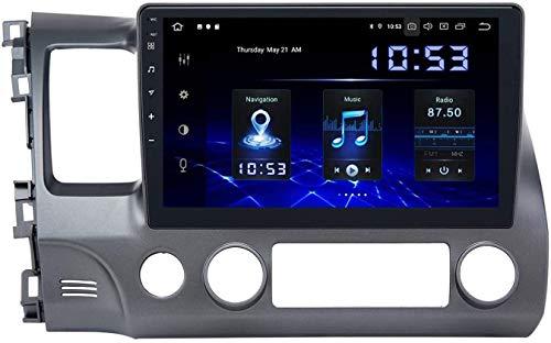 GPS Head Unit de navegación Auto SAT NAV 10.2 pulgadas IPS Pantalla táctil SWC Online / Offline Map Coche Stereo Multimedia Player Android 8.0 Compatible para Civic 2006-2009,8 core 4G+WiFi 2+32GB
