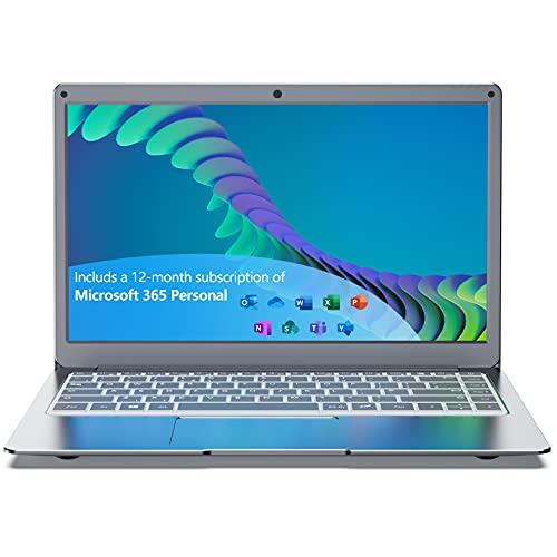 Jumper 13.3 Zoll Laptop 4GB RAM 64GB eMMC Notebook (Intel Celeron-CPU, Windows 10, Dualband-WLAN, USB 3.0 Microsoft Office 365) Computer PC unterstützt 256 GB TF-Karte und 1 TB SSD-Erweiterung