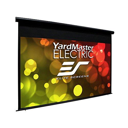 Elite Screens Yard Master Electric 100' 16: 9 visualización de proyección para proyector de Agua de Lluvia motorizada para Exteriores, OMS100H-Electric