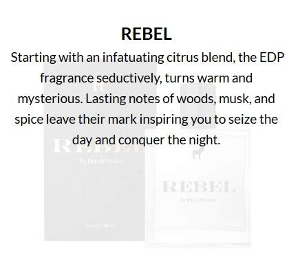 Pete and Pedro Rebel - Men's Cologne Wood, Musk, Spice Eau de Parfum