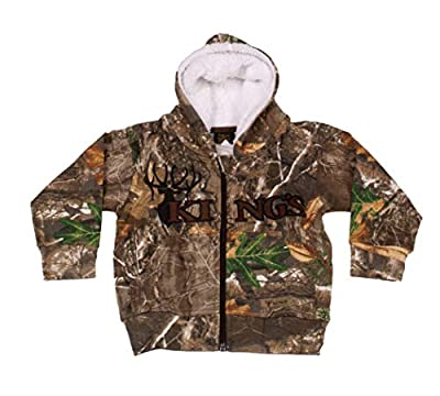King's Camo Infant Sherpa Zip Hoodie - Realtree Edge Camo, 2 Toddler