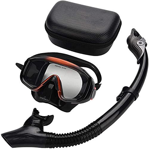 SALUTUY Gafas de natación submarinas Completamente secas, Conjunto de Snorkel Duradero de Gran Angular