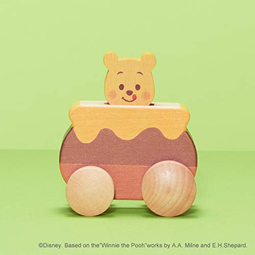 Disney KIDEA PUSH CAR くまのプーさん ディズニー キディア つみき ブロック 木製玩具 知育玩具 子ども 男の子 女の子 くるま 車 プレゼント TYKD00602