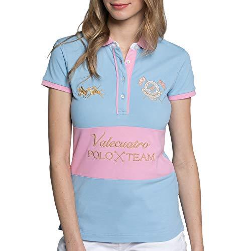 Valecuatro Camiseta Polo Manga Corta Jugadoras, Algodón y P