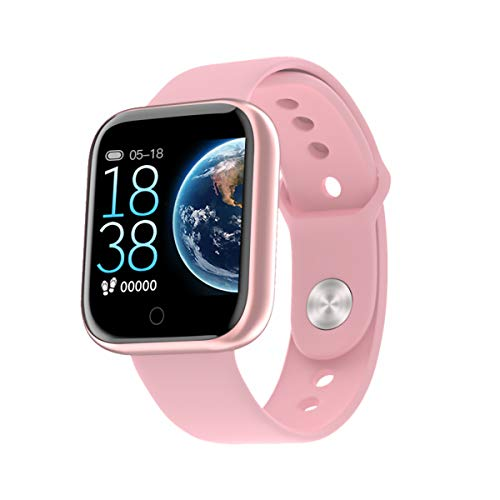 BE.LL.EV.UE Smartwatch Armbanduhr Herren und Damen Fitnessuhr Fitness Tracker Schrittzähler Uhrzeit Wasserdicht Smart Watch Sportuhr Fitnessarmband IOS Android Gym Black,White,Rosa