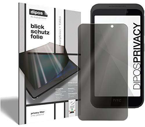dipos I 2-Wege Blickschutzfolie kompatibel mit HTC Desire 526G (Im Hochformat) I Sichtschutz-Folie Bildschirm-Schutzfolie Privacy-Screen - Schützt gegen seitliche Blicke