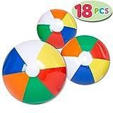 """JOYIN 18 Pcs Ballons de Plage Arc-en-Ciel, Ensemble Combiné Comprenant 18 Ballons de Plage Gonflables en 20 """"(6), 16"""" (6) et 12 """"(6)"""