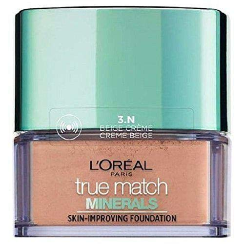 bester Test von loreal perfect match foundation L'Oreal True Match Mineral Foundation – Cremiges Beige N3 – 10g