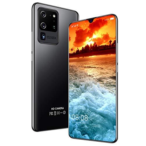 LINGZE Teléfonos móviles, teléfono con SIM Dual Desbloqueado, con Android 10.0, Octa-Core de 7.1 Pulgadas, cámaras traseras duales, teléfonos celulares de 5600mAh, Negro