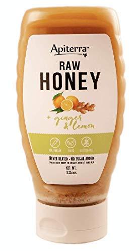 Ginger and Lemon Honey - Raw Honey with Ginger and Lemon - 12 Ounce…