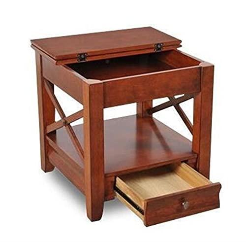 NICEDINING Europees-Amerikaanse land bank een paar woonkamer en eenvoudige hoek telefoon een paar kast kleine salontafel (Kleur: Chocolade)