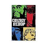 HUANGJINDA Póster de anime de Cowboy Bebop en lienzo y arte de pared, impresión moderna para dormitorio familiar, 40 x 60 cm