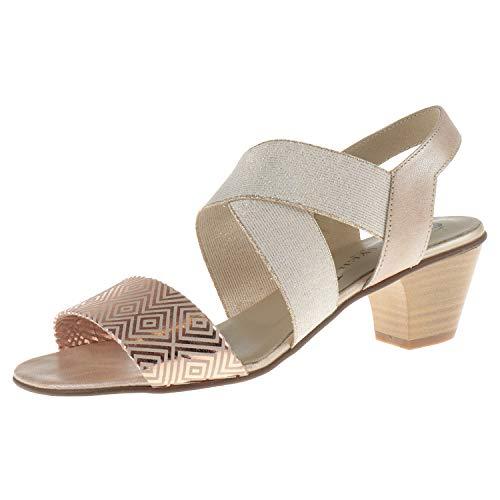 J. Metayer damesschoenen sandalen met hak Rebond beige Creta 512061015