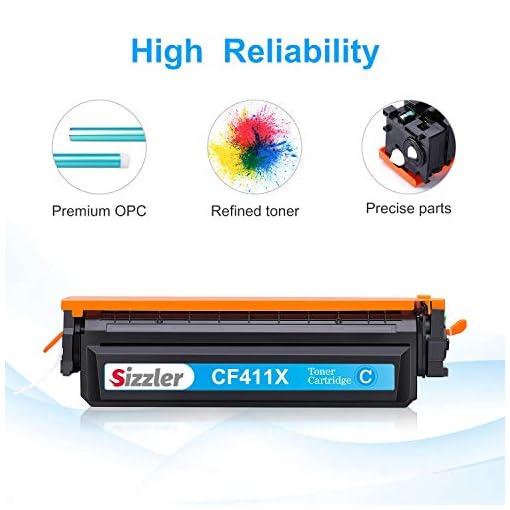 Sizzler Compatible 410X Cartuchos de tóner Reemplazo para HP 410X 410A Toner Cartuchos para HP Color LaserJet Pro M477… 4